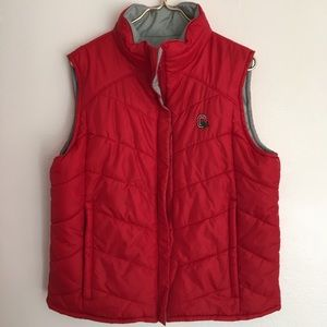 NWOT Columbia Reversible Ohio State Puffer Vest XL